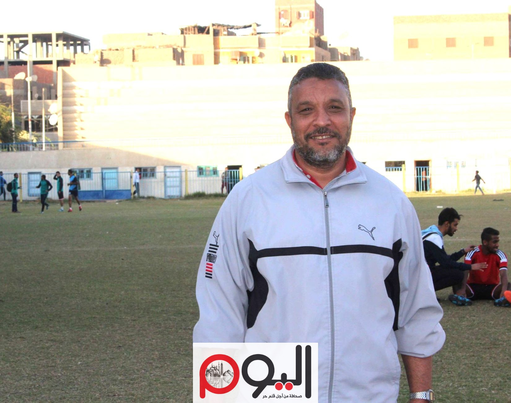 محمد عيسى، المدير الفني لشبان قنا، تصوير نورهان ذكي
