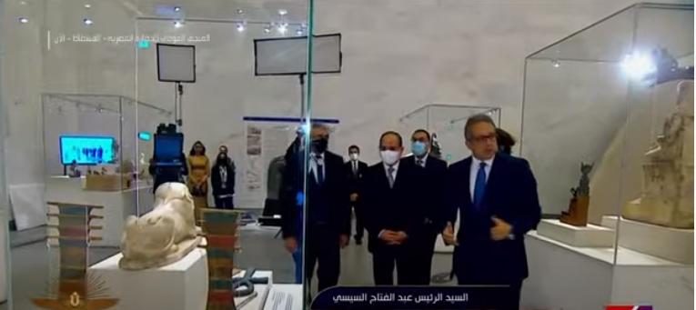 السيسي يتفقد متحف الفسطاط