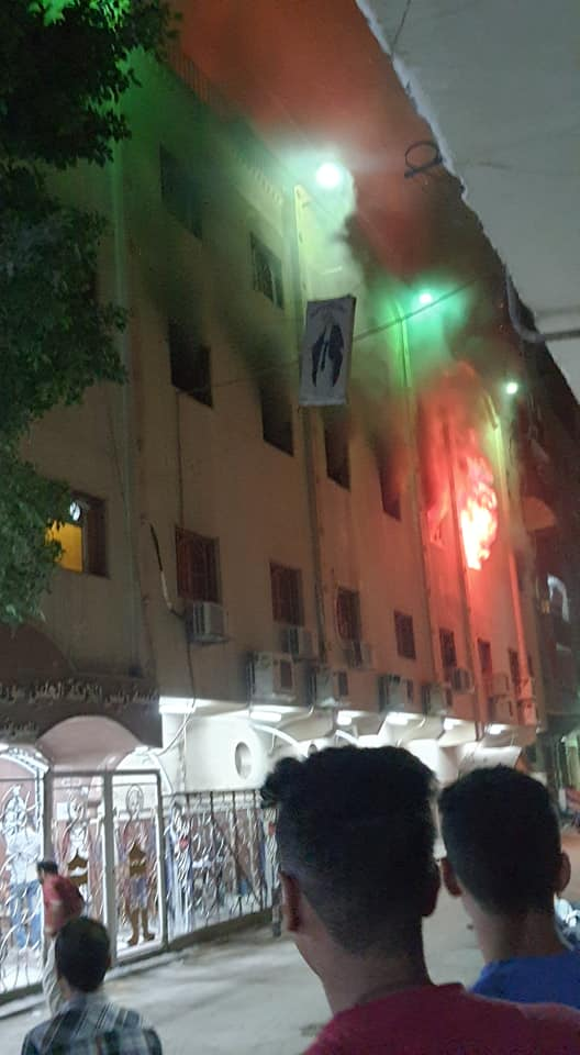 حريق بكنيسة في العمرانية