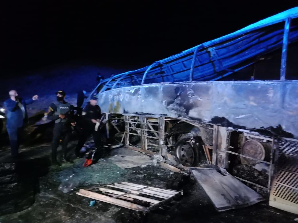 حادث تصادم اتوبيس طريق أسيوط