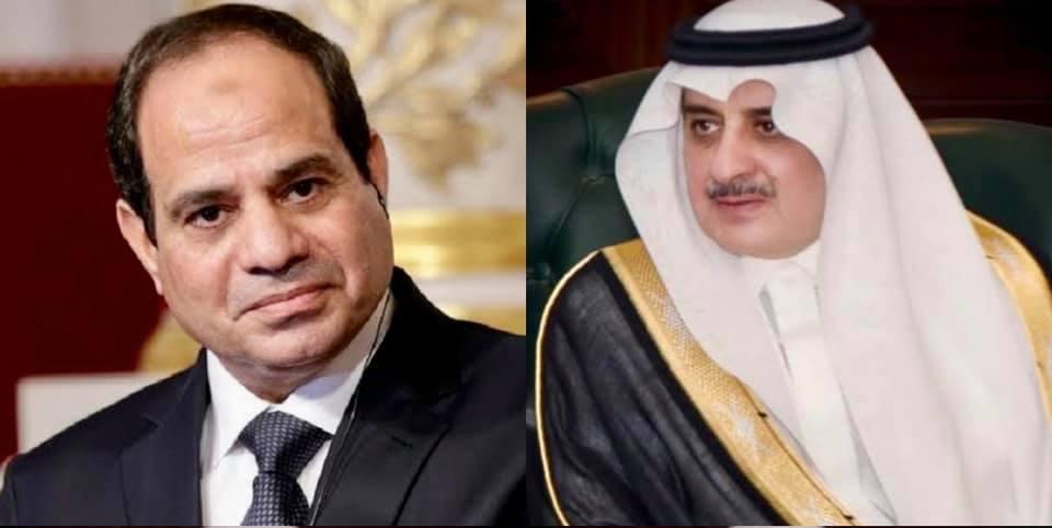 الرئيس عبد الفتاح السيسي وأمير منطقة تبوك