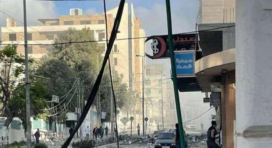 قصف مبنى وزارة الصحة الفلسطينية