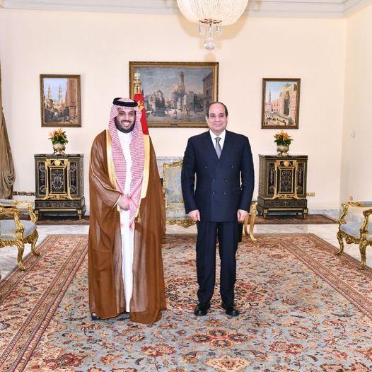 تركي آل الشيخ والرئيس السيسي