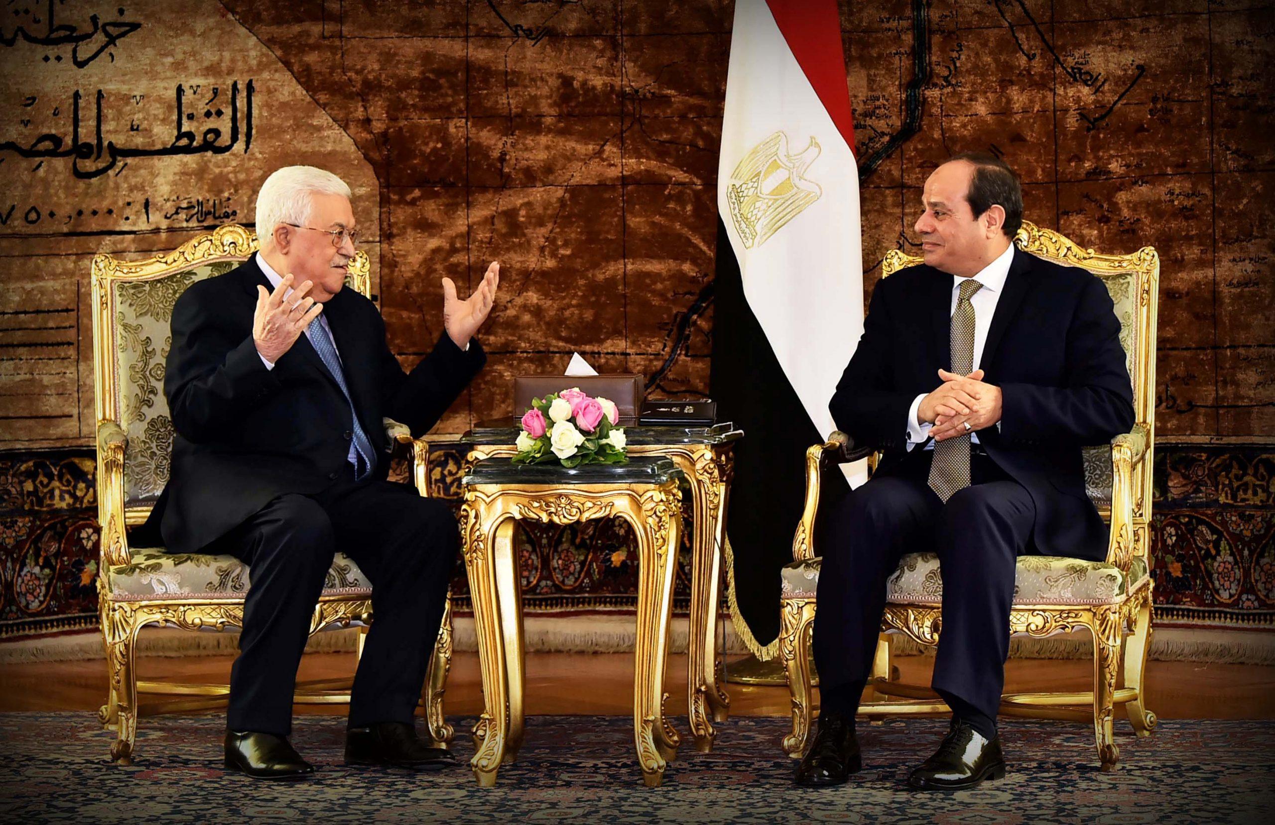 الرئيس السيسي والرئيس الفلسطيني