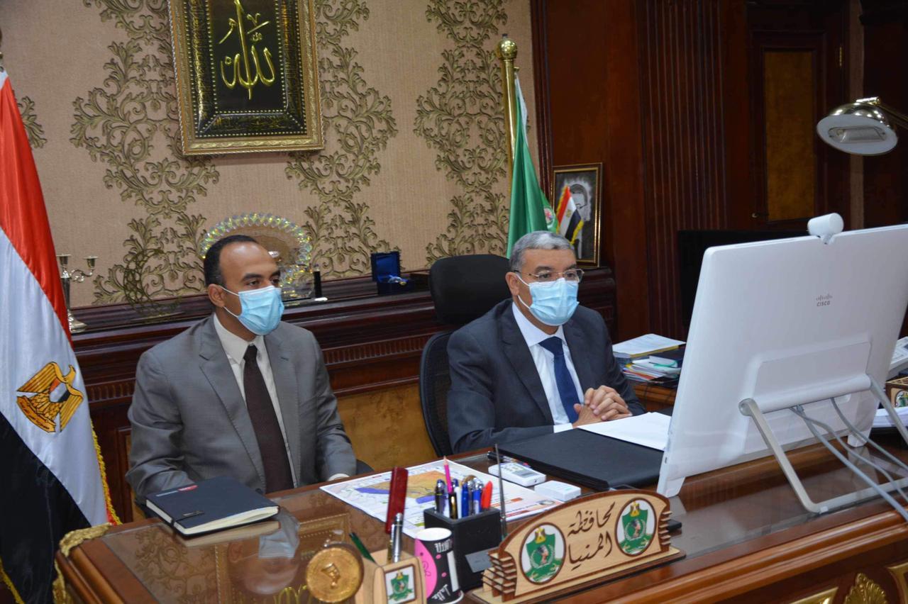 محافظ المنيا خلال اجتماع مجلس الوزراء