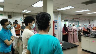 الطلاب داخل محطة معالجة المياه سرابيوم