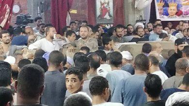 صلاة الجنازة على ضحايا قبرص بالمنيا