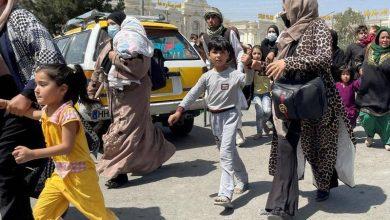 لاجئين أفغان