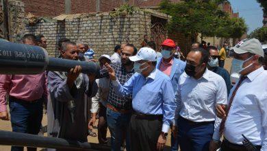 محافظ المنيا يتفقد مشروعات حياه كريمة
