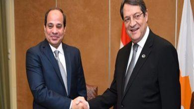 الرئيس عبد الفتاح السيسي و الرئيس القبرصي نيكوس أناستاسياديس